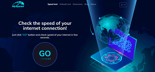 MySpeed - a reliable speed check online