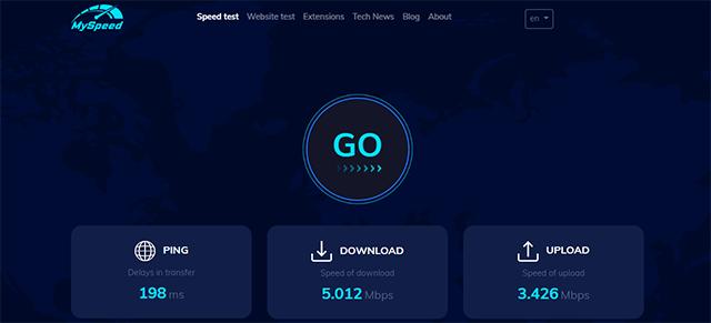 Network latency test tool