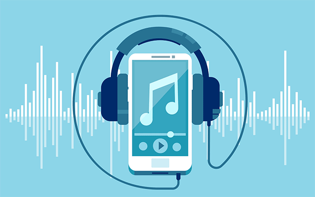 Does streaming music require a fast internet connection speed?