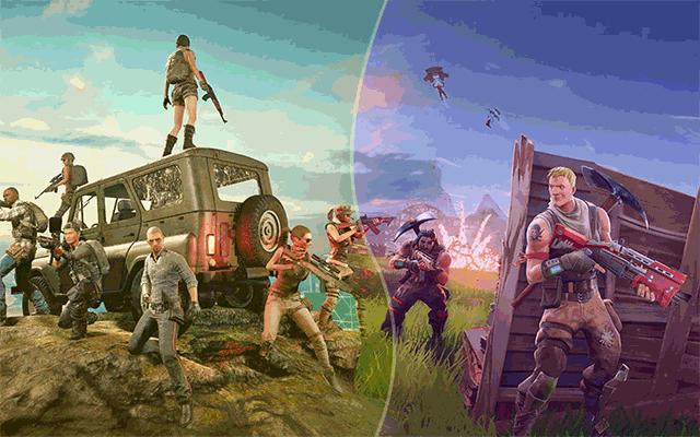 Review 2 recent famous online games: Fortnite & PUBG