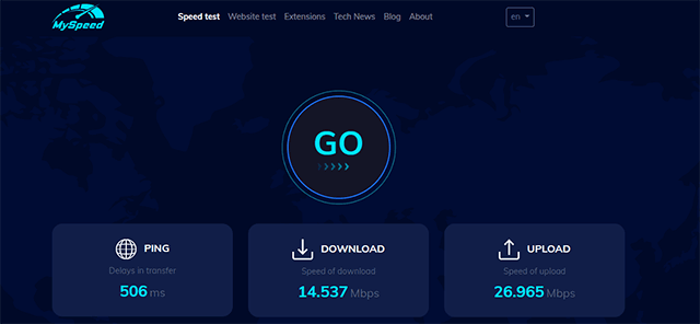 MySpeed- speed check for the Internet