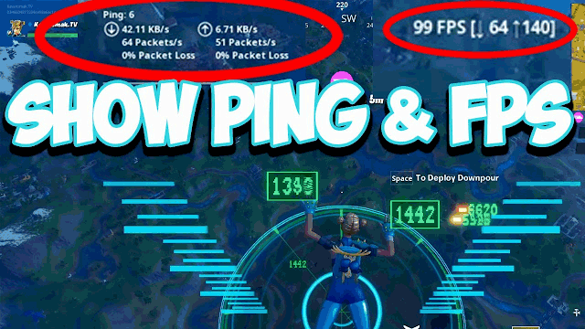 How to show ping in Fortnite?