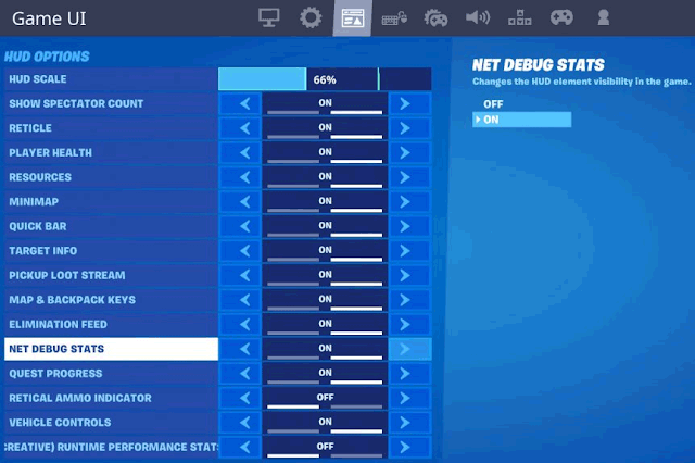 """Enable """"net debug stats"""" option"""