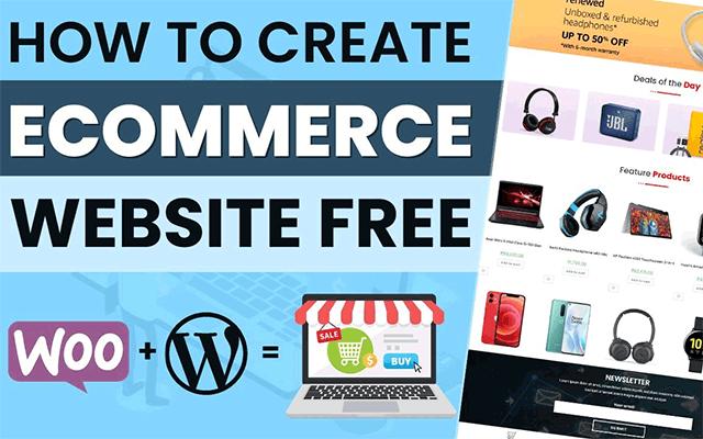 How to create eCommerce website in WordPress free?