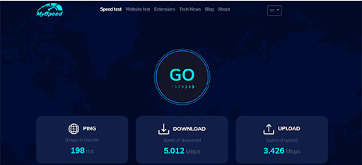 Check ping with MySpeed