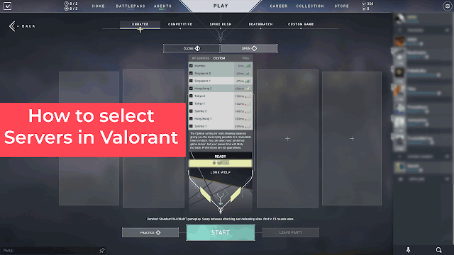 How to change server in Valorant?