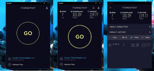 Test latency on Ookla Speedtest