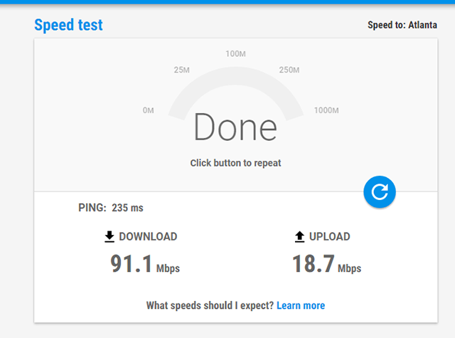 how to test internet speed on google