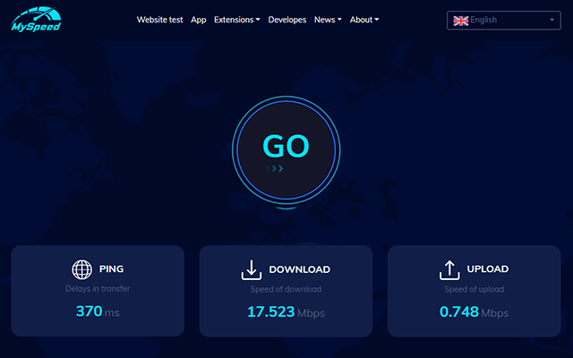 How to use the internet speed test ?
